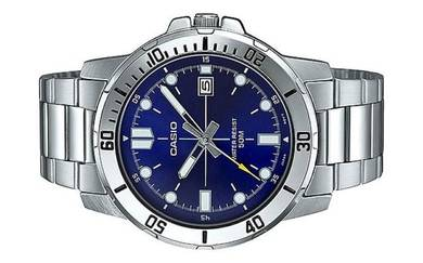 Casio Men Stainless Steel Watch MTP-VD01D-2EVUDF