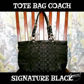 Tote Bag Coach Signature Black (Dirty)