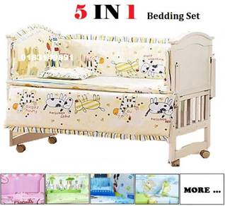 5 IN 1 Katil Bayi Baby Bedding Set Quilt Cover (C)