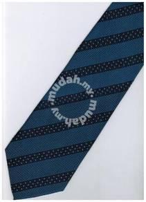 EDB10 Blue Top Quality Striped Formal Neck Tie