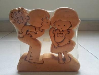 Wood Puzzle Love