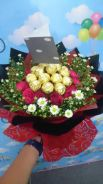 Flower choc bouquet-delivery service