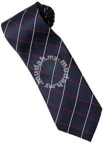 EDB15 Blue Red White Striped Formal Neck Tie