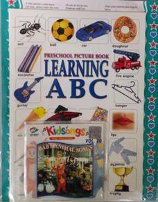 VCD Preschool Picture Book Learning ABC + Kidsongs