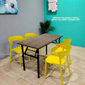 Foldable Dining Table W60xL120xH74cm and Colorist