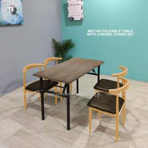 Foldable Table W60xL120xH74cm and Corona Chair
