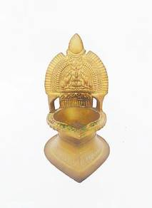 Antique Traditional South Indian Brass Oil Lamp
