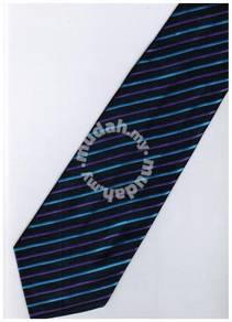 EDB7 Blue Purple Black Striped Formal Neck Tie