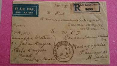Antik Old Cover Kuala Kangsar BMA 1946 No 333