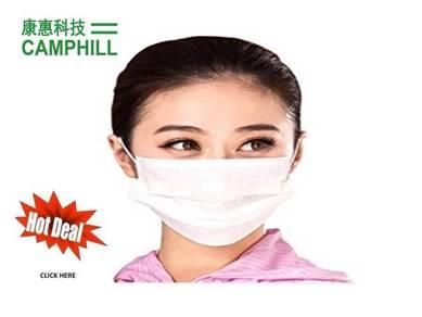 Disposable Topeng Muka Facemask Asap Jerebu White