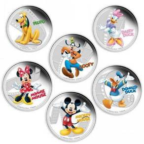 Disney Mickey & Friends 2014 Six-Coin Pack