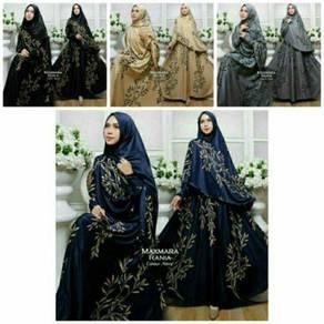 Muslimah MAXMARA RANIA syari set dress+hijab