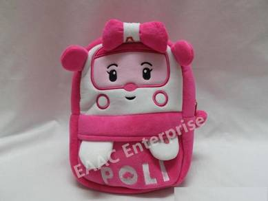 Robocar Amber Kid Kindergarten Backpack School Bag