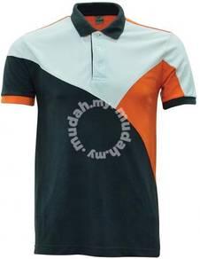 Baju Tshirt POLO Lacoste Grey/Orange/White