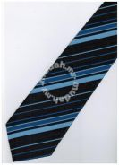 EDB8 Blue Black Brown Striped Formal Neck Tie