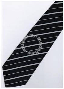 EDB5 Blue White Quality Striped Formal Neck Tie
