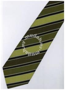 EG7 Apple Green Black Striped Formal Neck Tie