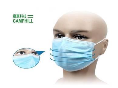 Disposable Facemask Topeng Muka Jerebu Asap Blue