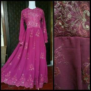 Hurem sari india maxi party dress wedding Muslimah