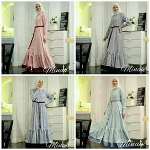 Pre order Muslimah long sleeve Minah maxi dress