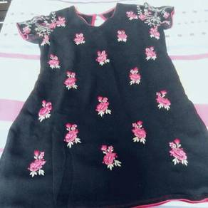 Beautiful black top with floral design