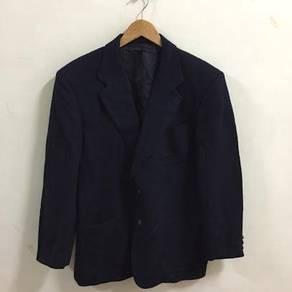 Vintage Burberry Coat Jacket Blazer Size L blue