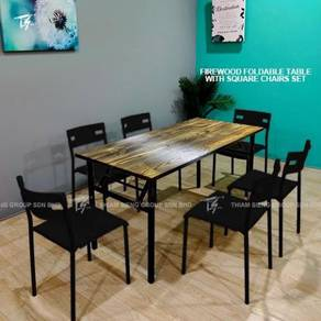 Foldable Dining Table 70X150cm and Square Table