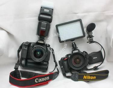 Kamera DSLR Nikon Canon Sony Sewa - Camera Rental