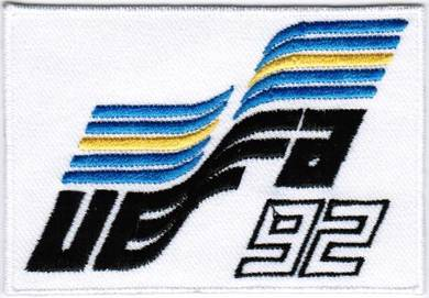 1992 9th Sweden UEFA European Championship Patch