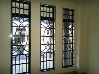 Stainless steel grille tingkap