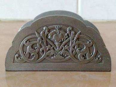 Tumasek pewter name card holder