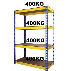 Yellow Blue Boltless Rack rak store barangan steel