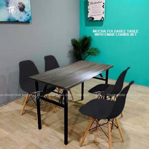 Foldable Table W60xL120xH74cm and E-mak chair