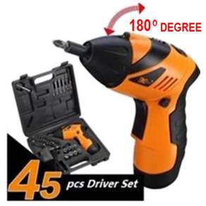 45 pcs electric screwdriver power tools drill set