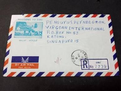 Antik Old Cover SIBU Singapore 1971 No 2549