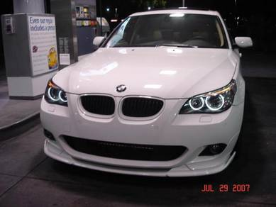 BMW 5-series E60 MSport HM Style Front Lips