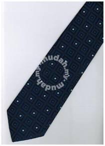 EDB25 Blue Black Box Striped Formal Neck Tie