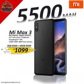 New Xiaomi Mi Max 3 [4+64GB] 5500mah My Set