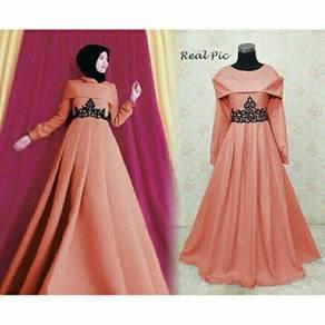 Muslimah long sleeve Niara maxi party dress formal