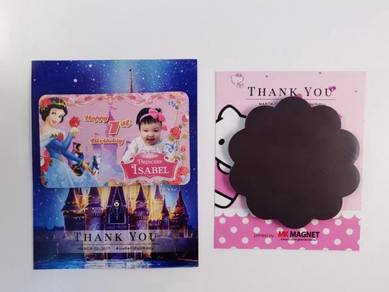 Fridge magnet with Thank you card packing