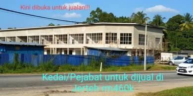 Bangunan Kedai/Pejabat 2tingkat di Jerteh