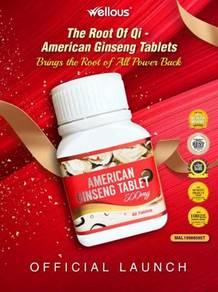 American Ginseng Wellous (60 tablets/Bottle)