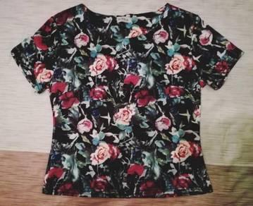 Sophia Flower short sleeve top t shirt