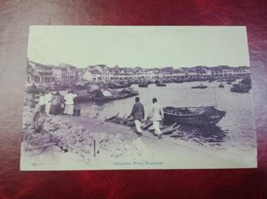 Postcard Singapore River 1910 PC 106
