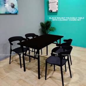Foldable Table W60xL120xH74cm and Colorist Chair