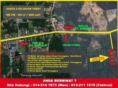 1 Lot luas Di Kuala Nerus. 150 meter dari jalan besar