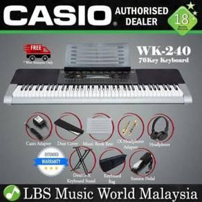Casio WK-240 76 Key Portable Keyboard Piano