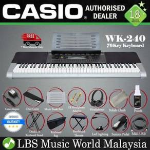 Casio WK-240 76 Key Portable Keyboard Full Pacage