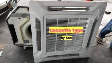 Air cond terpakai Cassette type 3hp,4hp,5hp