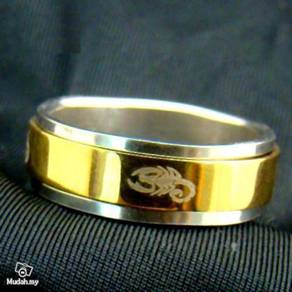 ABRSS-S005 Scorpion 2Layer Spin GoldSilver Ring 10